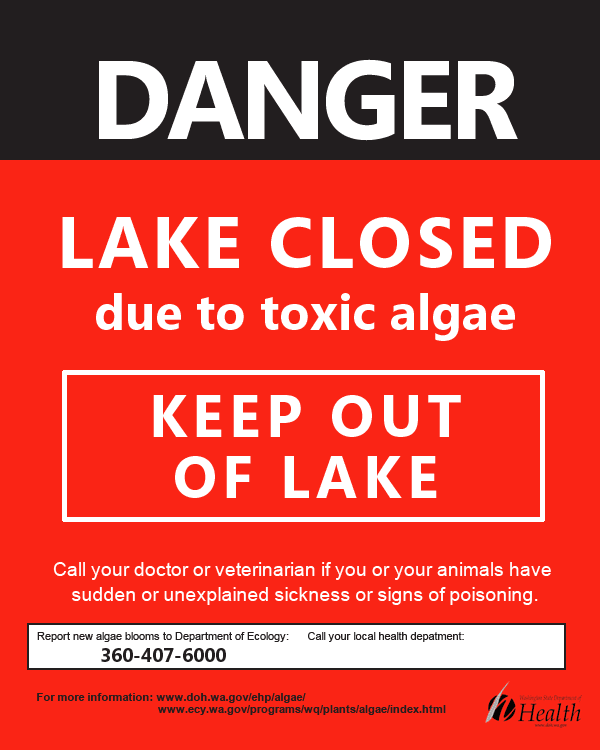 Danger Lake Closed Sign image