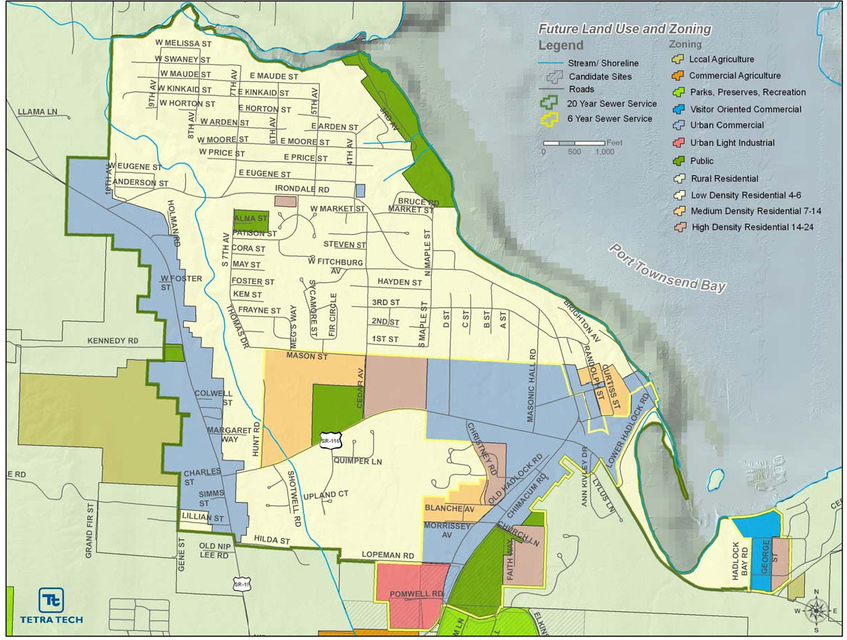 Future Land Use Map for the Irondale & Port Hadlock Urban Growth Area (UGA)