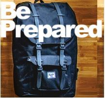 Graphic that reads Be Prepared. Be Prepared for an emergency with a Grab & Go Kit!